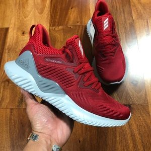 Men's Red and Grey Adidas AlphaBounce Size 6.5